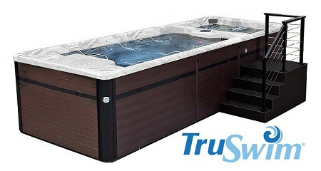 Swim Spa Custom Stairs Add Convenience and Easy Access