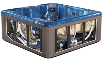 Hot Tub Efficient Design for Economical Servicing
