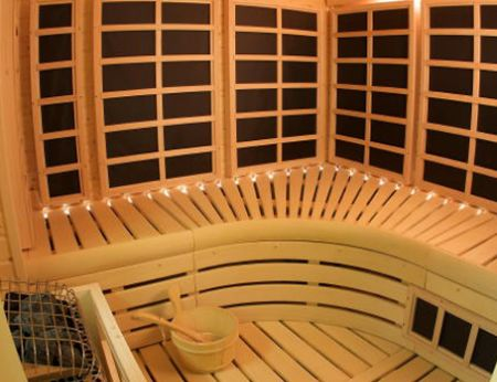 InfraSauna includes a long list of standard features that take a steam sauna and add infrared.