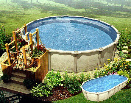 Above ground pools lehigh valley poconos above ground pool for Above ground pool decks las vegas
