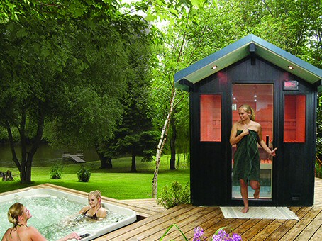 Saunas dealers lehigh valley poconos sauna dealers for Backyard sauna plans